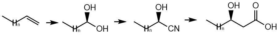 Example of synthesis of chiral carboxylic acid