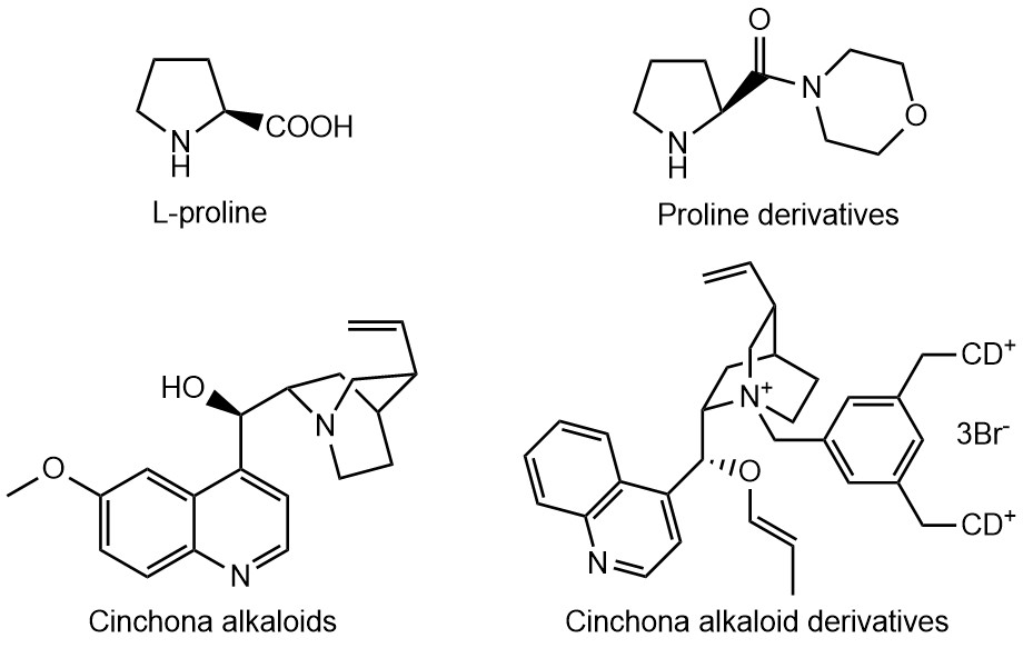 Examples of organic small molecule catalysts