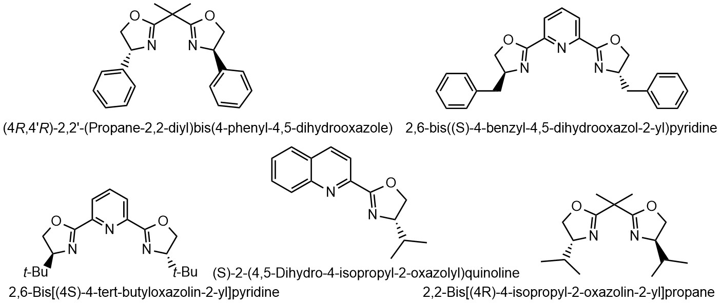 Examples of chiral oxazoline ligands