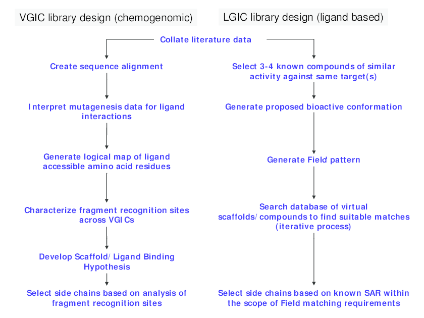 Approaches to ion channel library design.